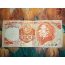 Billete De Uruguay De 10.000 Pesos M/n 1974 Artigas.-