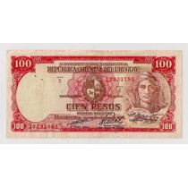 Uruguay Billlete De 100 Pesos Año 1939
