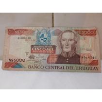 Billete 5000 Nuevos Pesos Uruguay 1983