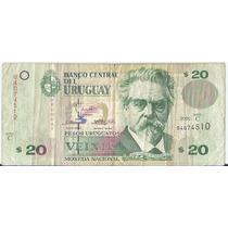 !!! Billete Uruguay 20 Pesos Uruguayos 2000 Imperdible !!!!
