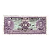 Venezuela Billete De 10 Bolivares De 1992 !!!!!!!!!!!!!!!!!!