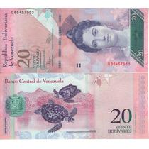 Venezuela Billete De 20 Bolívares Fuertes 2011 Sin Circular