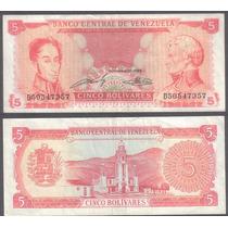 Billete Venezuela 5 Bolivares 1989