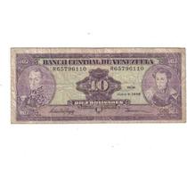 Venezuela Billete De 10 Bolivares Año 1995 !!!!