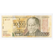 Venezuela Billete 20000 Bolivares Año 2001 Pick 86 A !!