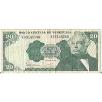 !!! Billete Venezuela 20 Bolivares 1992 Imperdible !!!!