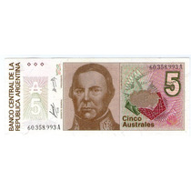 Bottero 2812 Billete 5 Australes