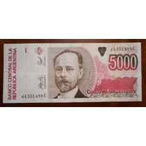 Billete De 5000 Australes Argentina Serie C Circulado