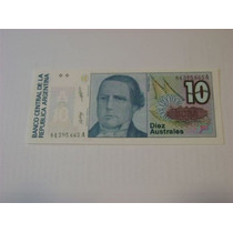 Billete 10 Australes Remato $25