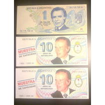 3 Billetes Menem - Excelente Estado - Oportunidad