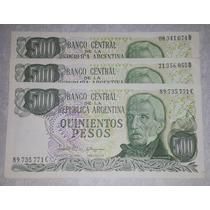 Billete 500 Pesos Argentina - Cada Uno