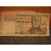 Billetes Antiguos 100.000 Cien Mil Pesos Lote De 8