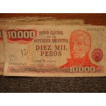 Billetes Antiguos Diez Mil Pesos Argentinos Lote De 20