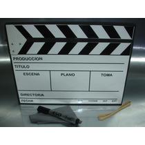 Claqueta Tipica De Cine. // Reproducción Escenográfica