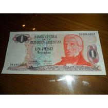 Billete De Un Peso Argentino - Serie A- Excelente Estado