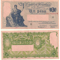 Billete 1 Peso Progreso Bottero 1819 Serie H 1940 Excelente+