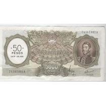Billete 5000 Pesos M/n Sobrecargado Estado Sin Circular-!!!!