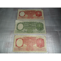 Billetes De Cincuenta Y Diez Pesos . Moneda Nacional 3unidad