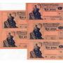 Lote 5 Billetes 1 Peso Progreso Serie K,l,m,n,ñ Excelentes