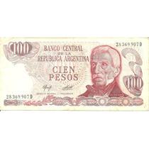 Billete 100 Pesos Cien República Argentina Serie D