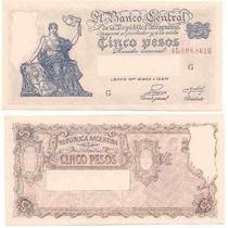 Billete 5 Pesos Progreso Numeros Rojos Bot 1865 Sin Circular