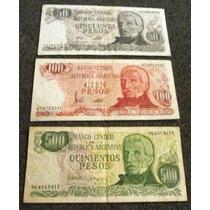 Billetes Antiguos Argentinos: 50, 100 Y 500 Pesos