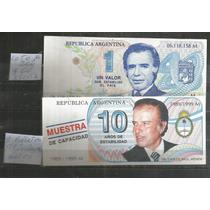 Argentina/ 2 Billetes De Propaganda De Carlos Menen