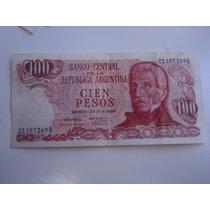 Billete De Cien Pesos Argentinos 22.197-269 B