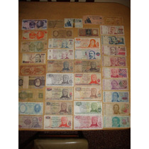Lote De 38 Billetes Antiguos Argentina Brasil Chile Uruguay