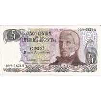 Billetes $ 5 Argentinos Nuevos