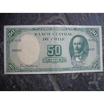 Billete De Chile 50 Pesos 50 Centésimos De Escudo