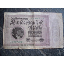 Billete 100.000 Marcos Alemania 1923