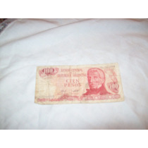 Billete 100 Pesos Banco Central De La Republica Argentina