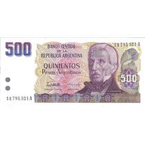 Argentina, 500 Pesos Argentinos, Lopez-g.vazquez, Sc