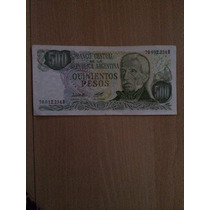 Billetes 500 Pesos Argentinos Gral. San Martin