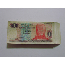 Fajo Completo De 100 Billetes De Un Peso Argentino