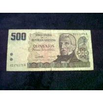 Billete De 500 Pesos Argentinos
