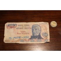Billete De 100 Pesos Argentinos 1983 Serie A En La Plata!!!