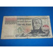 Billete De 100.000 Pesos Lopez-diz Serie A P/ Coleccionista