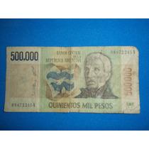 Billete Antiguo De 500.000 Pesos Lopez - Diz Serie A