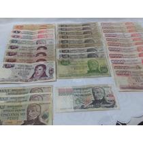 Lote De 33 Billetes Antiguos De Pesos Argentinos Liquido