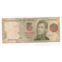 Argentina Billete 5 Pesos Convertibles Serie L Bottero 3025