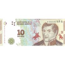 10 Pesos Reposicion Nuevo Modelo 2016 Sin Circular Palermo