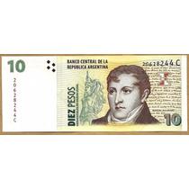 Billete Arg Bottero 3405 $10 Convert C/leyenda S/cir Palermo