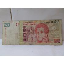 20 Pesos Reposicion Regular Estado Del Pont Cobos