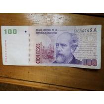 Billete 100 Pesos Convertibles Con Leyenda Serie A Ruckauf