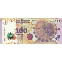 G.c. - Argentina - $ 100 Evita - Bottero C001 - Au