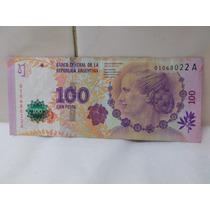 Billete 100 Pesos Evita Serie A Primer Diseño