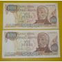 Billete Argentina Coleccion $ 1000 Ley 18188 Serie H 1 Color