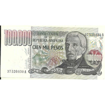 Billete 100.000 Pesos Ley Bottero 2502 Año 1979 Excelente+